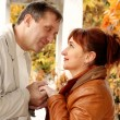 Man and woman looking — Stock Photo