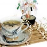 kop van groene thee — Stockfoto