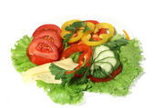 Dish with a salad — Stock Photo