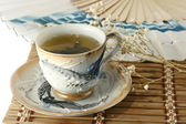 Cup of green tea — Stock Photo