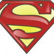 Superman symbol isolated on white backg - Stock Photo