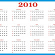 Design Calendar 2010 — Stock Photo