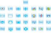 3d set of icons for web — Stock Photo