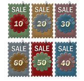 Set of label sale — Stock Photo
