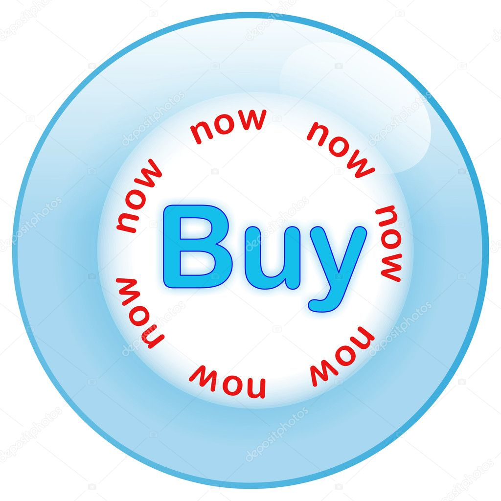 Blue glass button buy now — Stock Photo #1463249