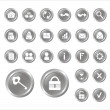Vettoriale Stock : Series vector icons for web
