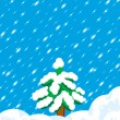 Stock Vector: Winter tree and snow