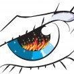 Fire Eye — Stock Vector