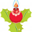 Holiday candle — Vector de stock