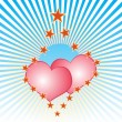 Light hearts — Vector de stock