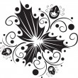 Floral tattoo — Stock Vector #1435908