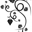 Floral design tattoo — Stock Vector #1436052