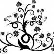 Floral design tattoo - Stock Vector