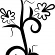Floral design tattoo — Stock Vector