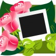 图库矢量图片: Gift design rose background