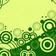 Green Design retro background — Image vectorielle