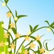 图库矢量图片: Design summer floral background
