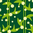 Design green floral seamless pattern - Stock Vector