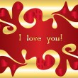 Holiday valentine s card — Vector de stock #1436244
