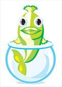 Dibujos animados de pescado — Vector de stock
