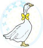 Vector holiday goose — Stock Vector