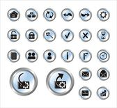 Series vector icons for web — Stockvector