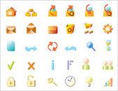 Serie vector iconen voor web — Stockvector