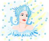 Water woman — Stock Vector