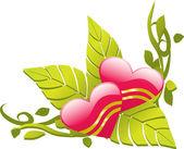 Love design floral corner — Stock Vector
