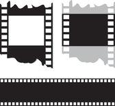 Cinta de película y foto — Vector de stock