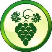 Botón floral uva vidrio — Vector de stock