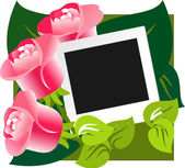 礼品设计玫瑰背景 — 图库矢量图片