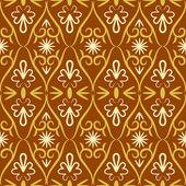 Swirl retro naadloze kleurenpatroon — Stockvector