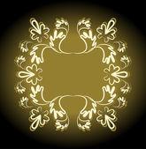Patrón sin costuras retro oro espacio de copia — Vector de stock