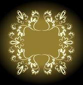 Retro goud kopie-ruimte naadloze patroon — Stockvector