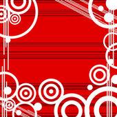 红色设计 grunge 复古背景 — 图库矢量图片