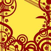 цветочный дизайн ретро-гранж фон — Cтоковый вектор
