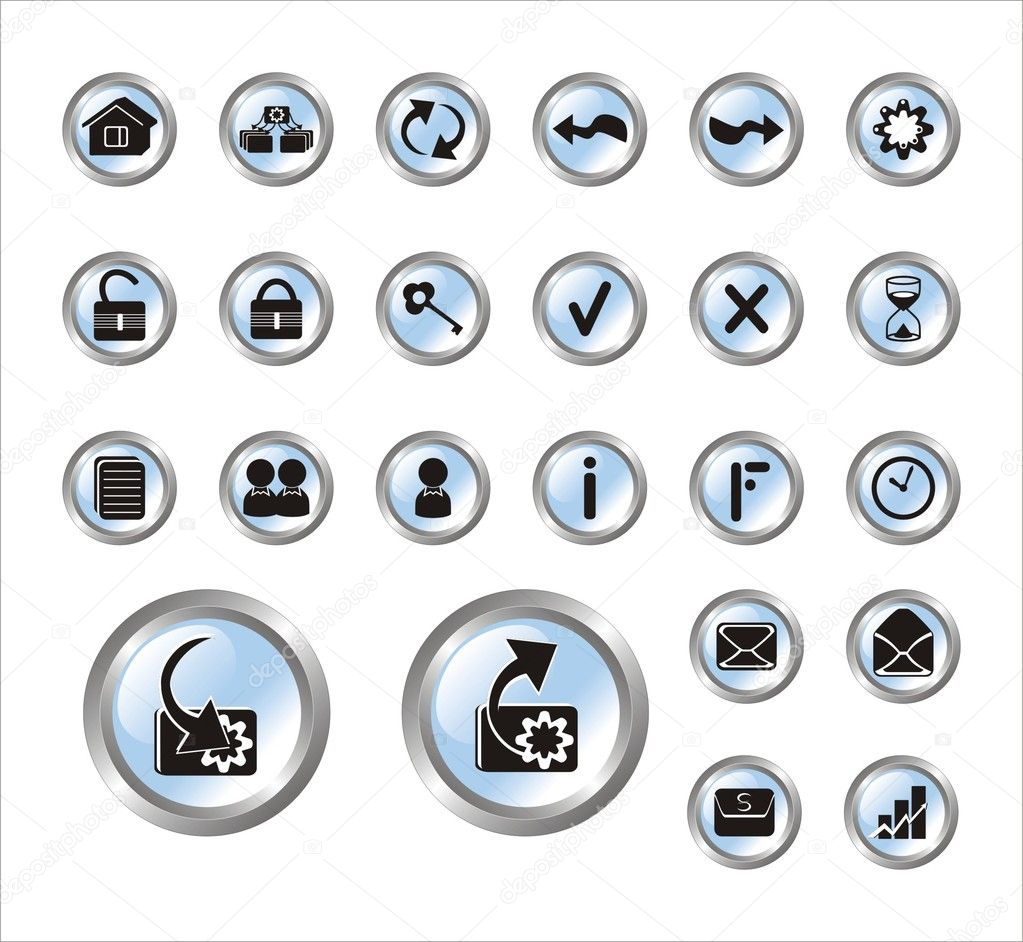 Series vector icons for web — Stock Vector #1434315