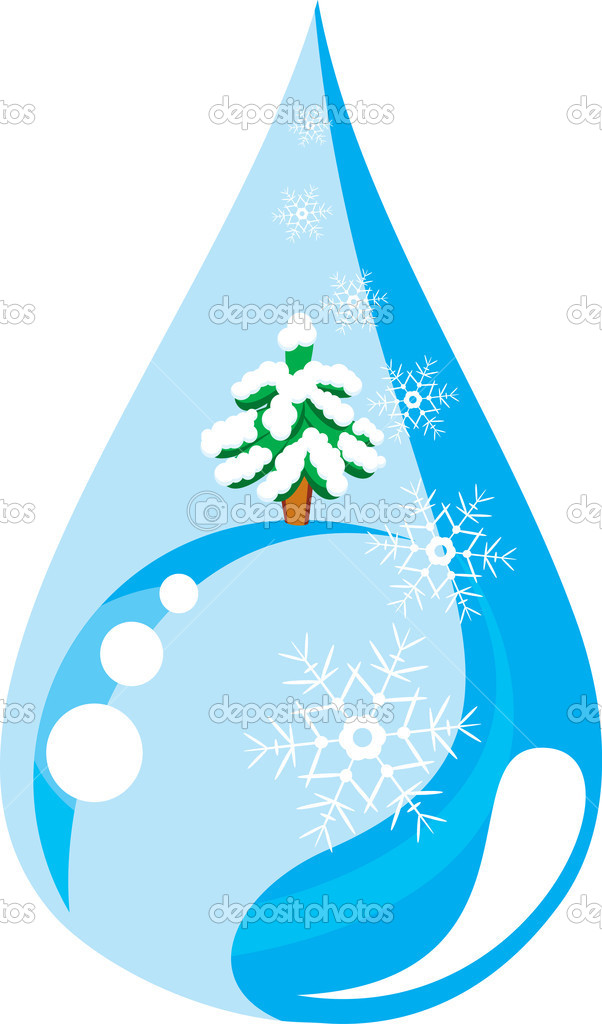 Winter drop  — Stock Vector #1434616
