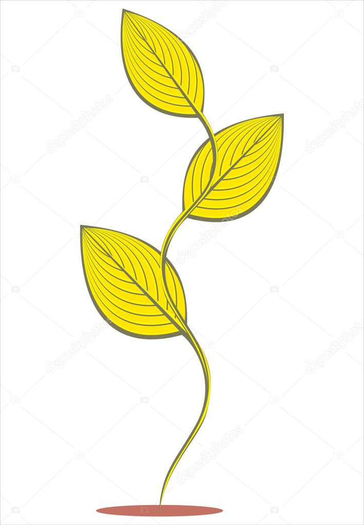 Gold plant symbol  Stock Vector #1434770