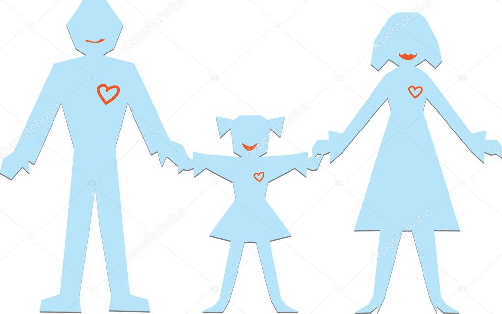 Paper family — Stock Vector #1434897