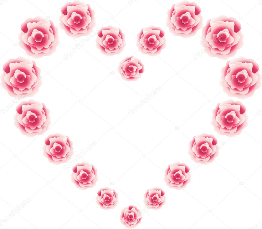 Hearts from roses — Stock Vector #1435373