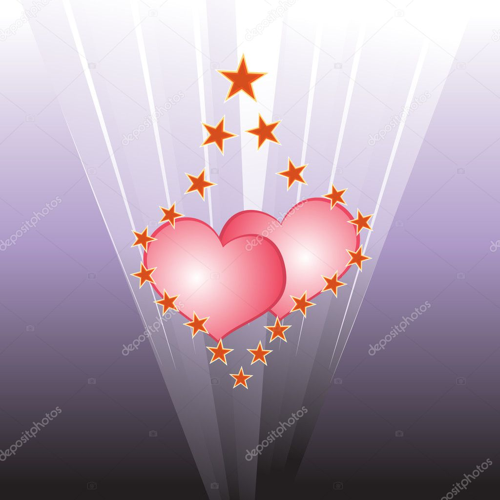 Light hearts — Stockvectorbeeld #1435525