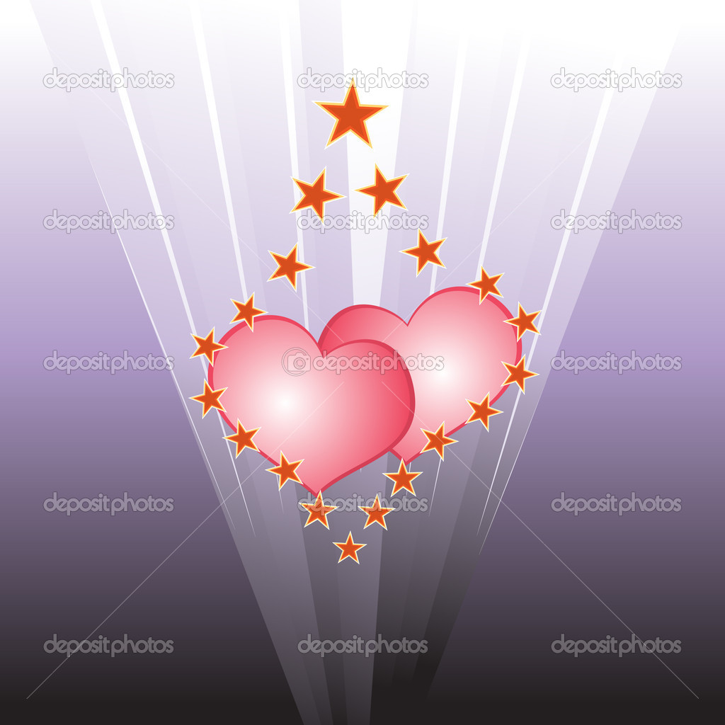 Light hearts — Stock Vector #1435525