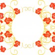 Design floral frame with roses - Stock vektor