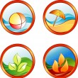 Summer rest icons — Stock Vector