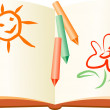 Summer rest child book - Imagen vectorial