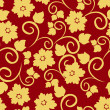 Stockvector : Floral seamless pattern