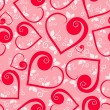 Floral heart Seamless pattern - Stock vektor