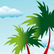 图库矢量图片: Floral palm background